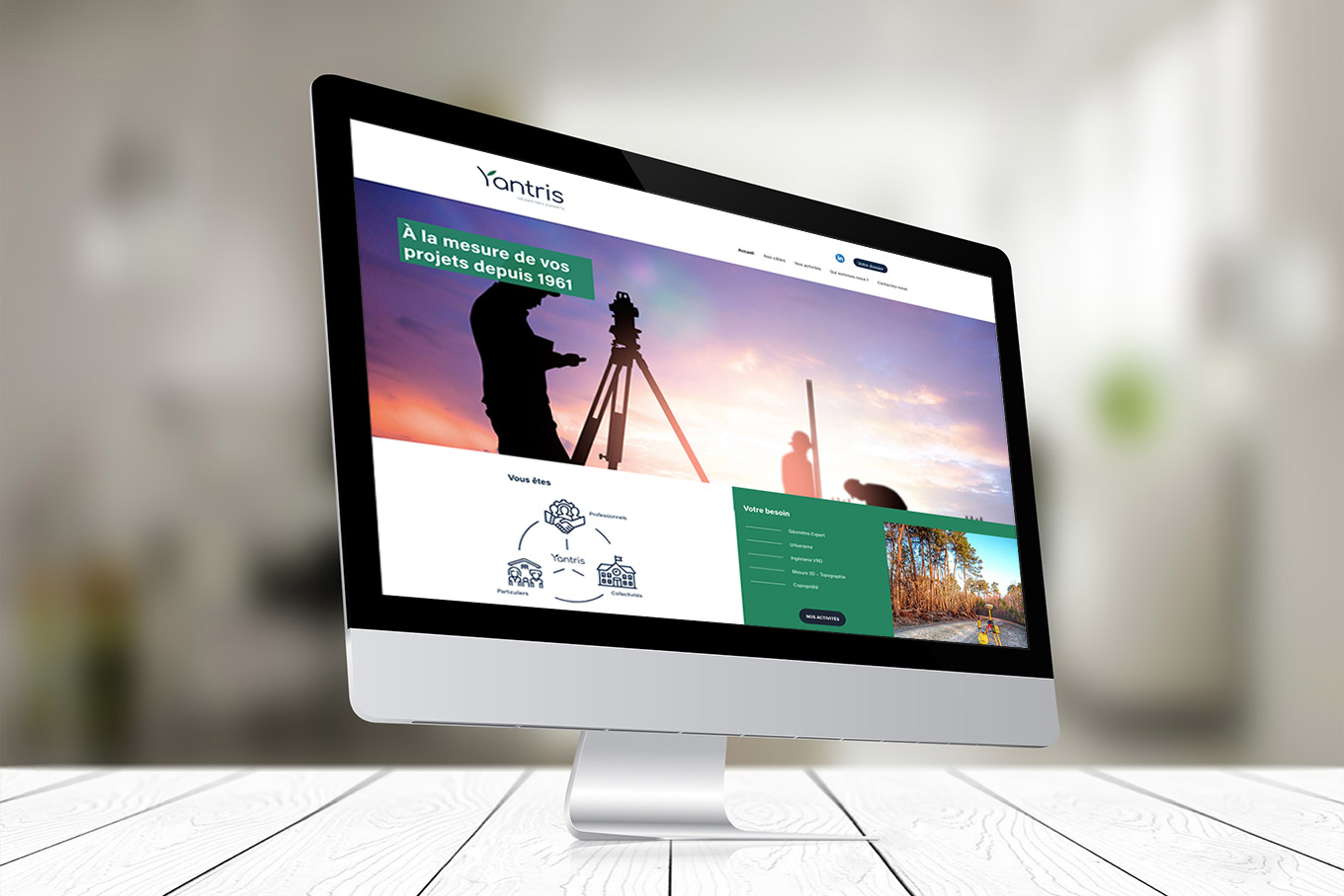 Yantris - Site internet vitrine
